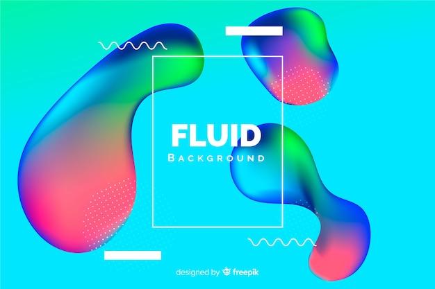 3d forme fluide sullo sfondo