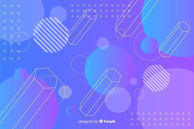 3d forme geometriche sullo sfondo