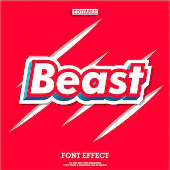 3d forte bestia rossa per il moderno logo del marchio