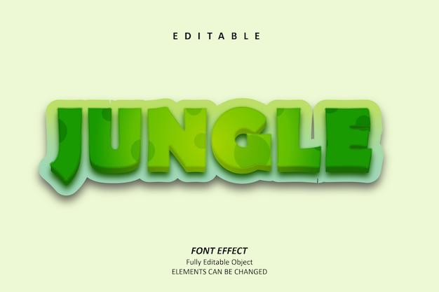 3d jungle green text effect premium