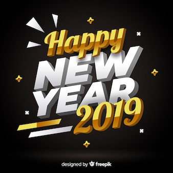 3d lettering nuovo anno 2019
