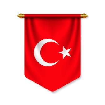 3d stendardo realistico con bandiera