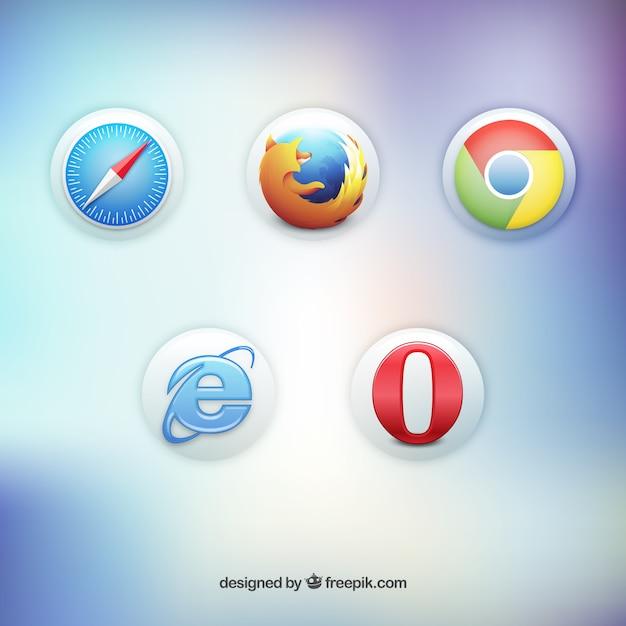 3d sull'icona del browser web