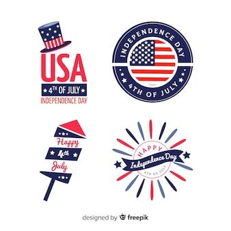 4 luglio collezione di badge