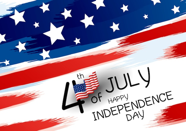 4 luglio design happy independence day