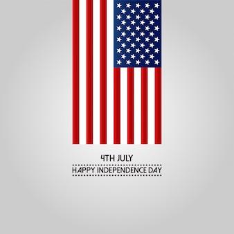 4 luglio felice giorno dell'indipendenza america