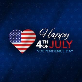 4 luglio giorno dell'indipendenza con amore