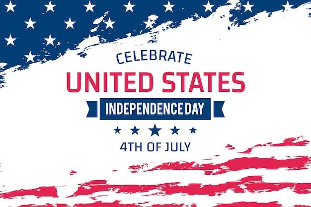 4 luglio - giorno dell'indipendenza in design piatto