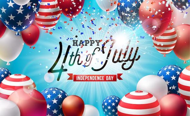 4 luglio independence day dell'illustrazione degli stati uniti