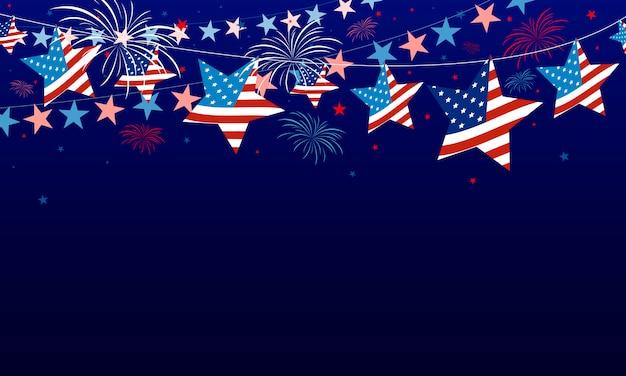 4 luglio usa sfondo del giorno dell'indipendenza