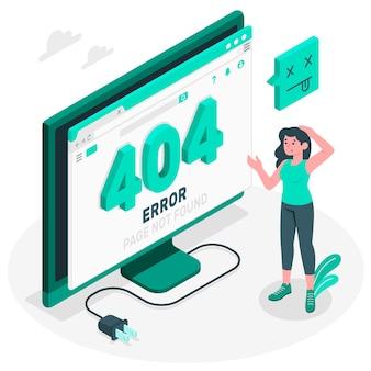 404 errore illustrazione isometrica