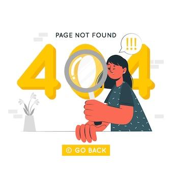 404 illustrazione di concetto di errore