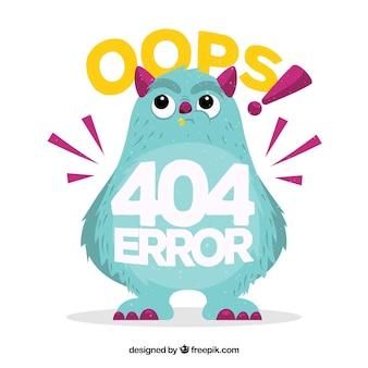 404 modello di errore web in stile piatto