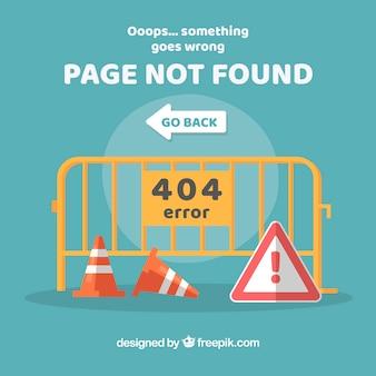 404 modello web di errore con i segnali stradali