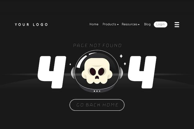 404 pagina di destinazione errore
