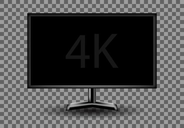 4k monitor bianco vuoto vuoto, illustrazione dello schermo