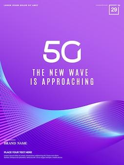5g astratto, tecnologia di rete 5g