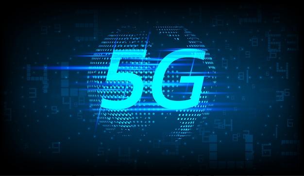 5g nuovo sfondo della connessione internet wireless