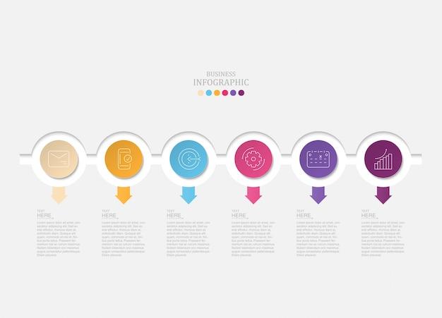 6 cerchi infografica