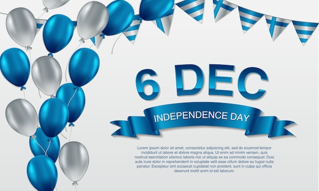 6 dicembre, saluto della festa dell'indipendenza della finlandia