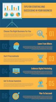 6 opzioni di infografica aziendale per la presentazione.