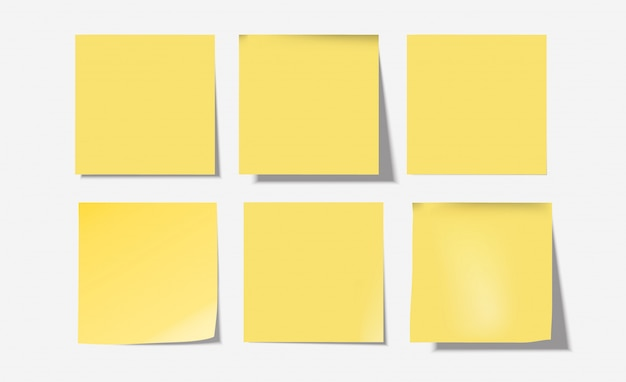 6actions set di note yellow post