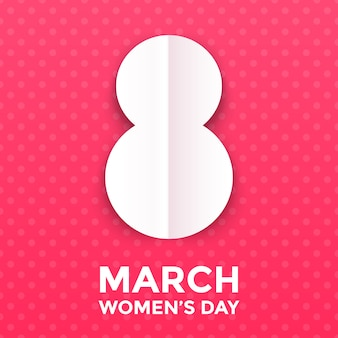 8 marzo illustrazione papercut per la carta della giornata internazionale della donna.