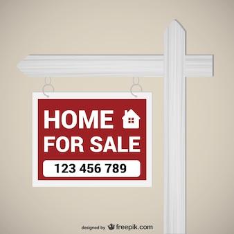 A casa per il segno di vendita