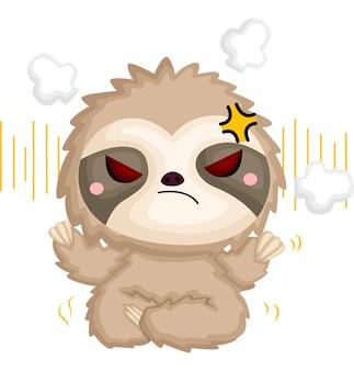 A di un bradipo arrabbiato