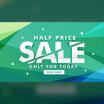 A metà prezzo bandiera di vendita di sconto per il marketing
