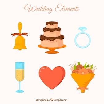 Abbastanza bouquet e altri oggetti di nozze