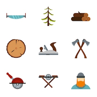 Abbattimento alberi, stile piatto