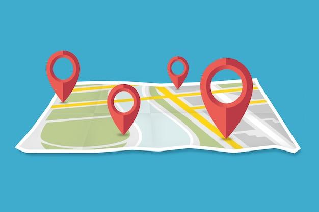 Abbiamo spostato la mappa di navigazione con la progettazione grafica di pionters