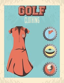Abbigliamento da golf uniforme