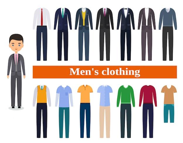 Abbigliamento da uomo. abiti da lavoro per uomo.