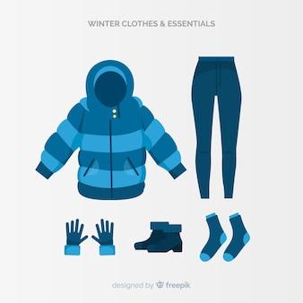 Abbigliamento invernale e collezione essentials