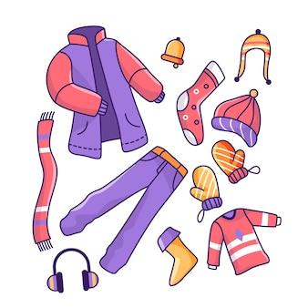 Abbigliamento invernale e design essenziale