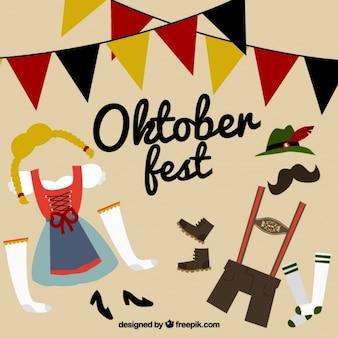 Abbigliamento tradizionale per l'oktoberfest