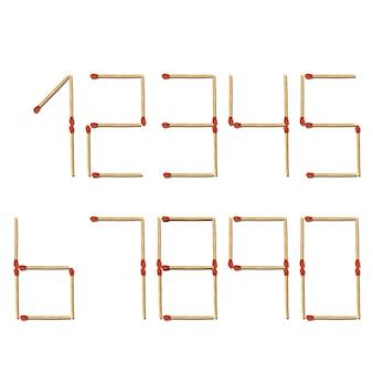 Abbina numeri bianchi