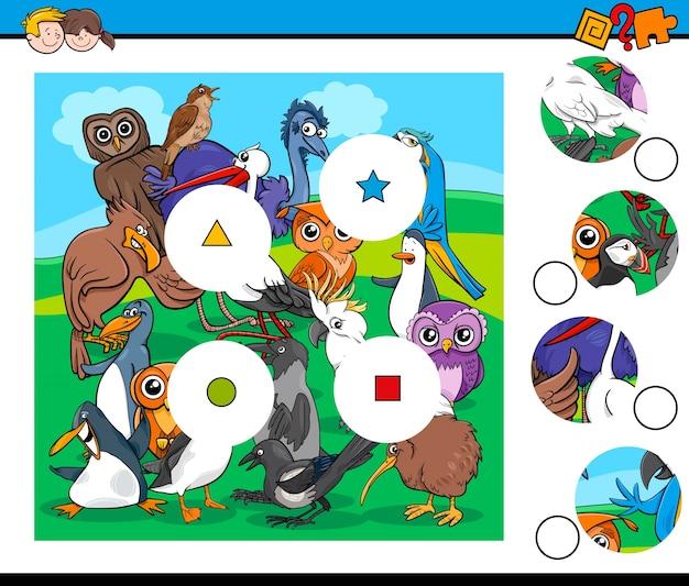 Abbinare gioco di pezzi con personaggi di uccelli