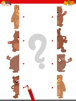 Abbinare le metà degli orsi