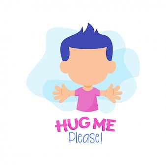 Abbracciami per favore con il personaggio