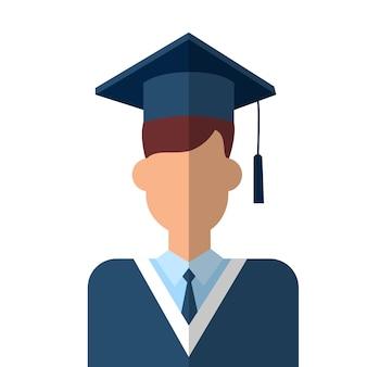 Abito di laurea dell'icona dello studente laureato
