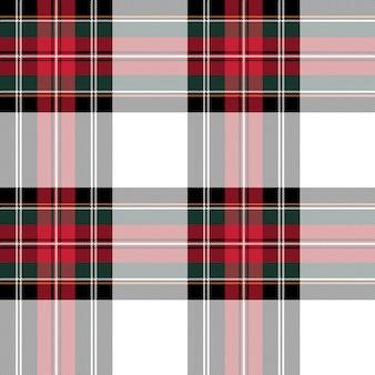 Abito stewart in tessuto scozzese senza cuciture