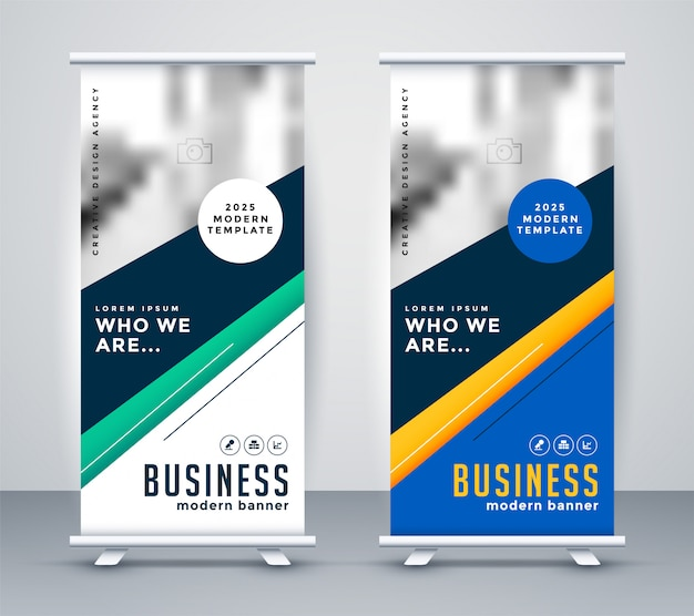 Abstact geometrico banner design rollup