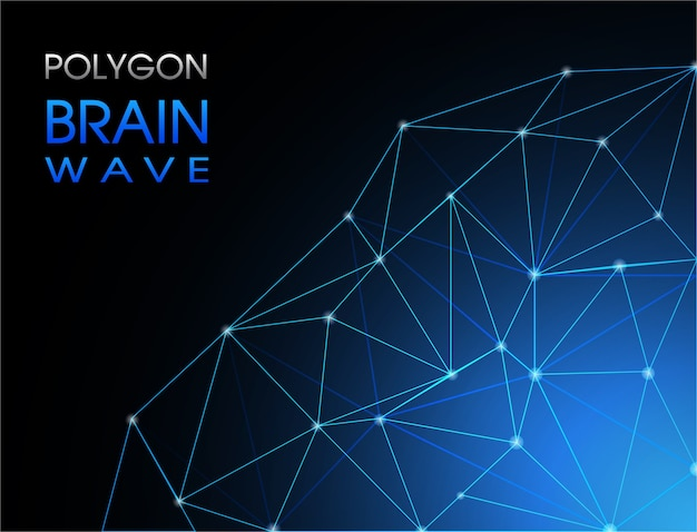 Abstrack background poligono brainwave