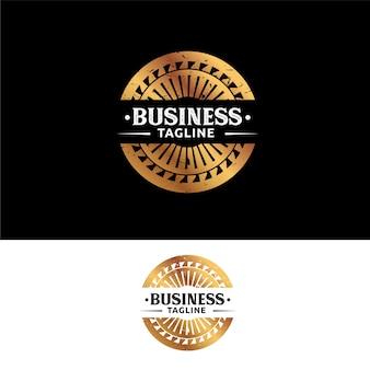 Abstrack gold circle vintage emblem logo