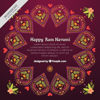 Abstract background ornamentali di felice ram navami