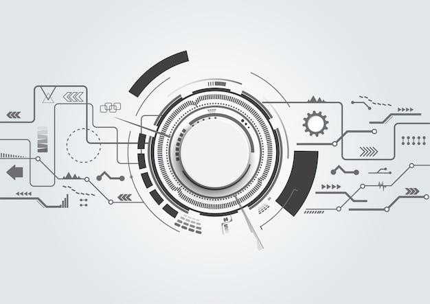 Abstract background tecnologico con tecnologico