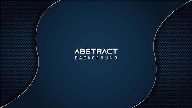 Abstract blue silver wave sfondo con copia spazio per il testo